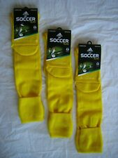 Adidas Soccer Socks mens womens Elite Climacool size medium yellow new lot of 3