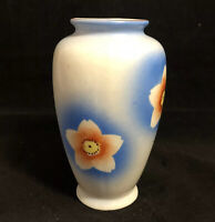 Vintage Porcelain Bud Vase Mid-Century Modern w/ Cherry Blossoms Made in Japan