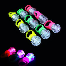 10pcs/lot Cute Kids Child LED Light Up Flashing Finger Rings Glow Party Favor