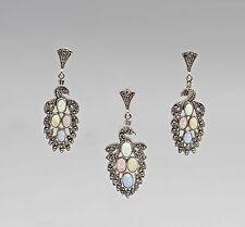 925er Argento moda Set Opale orecchini / Rimorchio 9907223