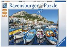 NEW Ravensburger Colorful Marina Boats Mediterranean 500 Piece Puzzle