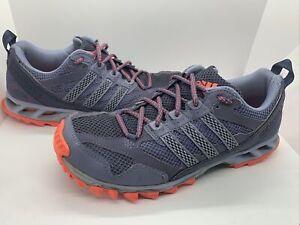 Adidas Kanadia TR 5 women's sz 9 gray orange hiking running trail training shoes