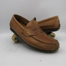 Hummer Mens 11 Brown Driving Moccasin Moc Penny Loafer Nubby