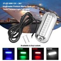 27 LED 12V 50W Pontoon Light Marine Boat Yacht Motorboat Underwater Transom Lamp