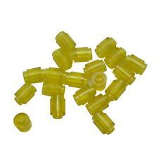 20 LEGO 1x1 round brick 6141 transparent yellow Vintage space
