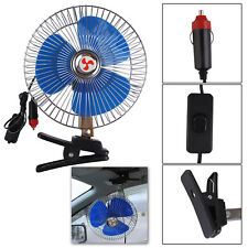 "8"" Inch 12V Car Fan Vehicle Clip-On Oscillating Window Dashboard Cooling Cooler"