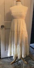 New Ralph Lauren Denim & Supply Smocked Ivory Tiered Maxi Sundress S