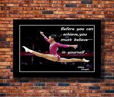 Y278 Aly Raisman Artistic Gymnast World Yoga Star Silk Canvas Poster 30 24x36