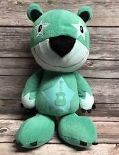 "Peek A Boo Toys Green Stuffed Animal Plush Teddy Bear w/ Guitar Symbol 12"""