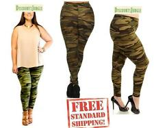 DXL Womens ORIGINAL Plus Size ARMY green Camo Camouflage SOFT Leggings 1X 2X 3X