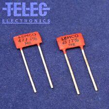 2 PCS. Lemco Silver Mica Capacitor 47pF / 2% / 500V Marshall Plexi