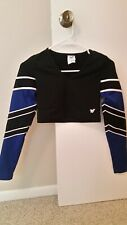 black & royal blue shell by varsity size m