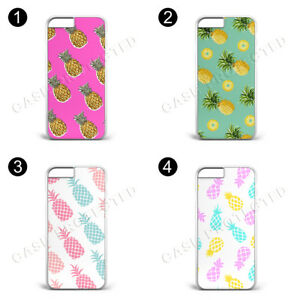 Pineapple Summer Gold Pink Green Yellow hard pla phone case for IPhone & Samsung