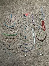 Huge Lot of 41 Vintage Handmade to Now Woven, Wire Beaded Necklaces