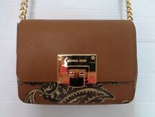 NWT MICHAEL KORS TINA LUGGAGE Small Clutch Crossbody Purse Shoulder Bag NEW $228