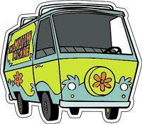 "Scooby-Doo Gang and Text scrapbook bumper sticker wall decor vinyl decal 6/""x3.5/"""