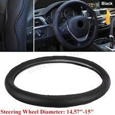"15""/37-38CM Steering Wheel Cover PU Leather For Toyota Honda Nissan Mazda Black"