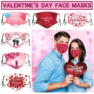 Valentine's Day Fashion Face Mask Protection Cover Reusable Washable Breathable