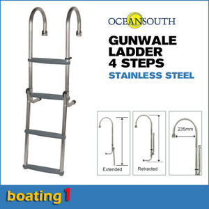 4 Steps Gunwale Boat Ladder Stainless Steel - Oceansouth