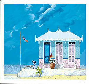John Kiraly - The House That Aloe Built (Florida Suite), hand-signed serigraph