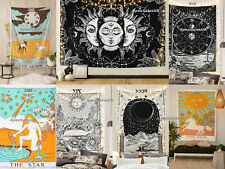 Tarot Card Cotton Wall Hanging Poster Tapestry Hippie Bohemian Boho Mandala UK