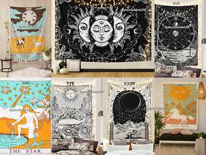 Tarot Card Cotton Wall Hanging Poster Tapestry Hippie Bohemian Boho Mandala UK