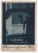 Spartito L'OMBRA Jula De Palma Colomber Festival Sanremo 1955 Sheet music