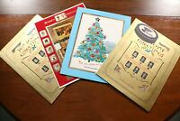 Lot of 4 St. Louis Blues Salomon Family Christmas Cards 60s 70s Vintage