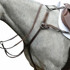 Collegiate 5 Point Iv Saddlery Breast Plate - Brown All Sizes