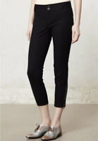 Anthropologie Cartonnier Solid Black Zip Ankle Charlie Ankle Trousers Women's 6