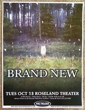 BRAND NEW w/ JESSE LACEY 2009 Gig POSTER Portland Oregon Concert