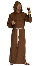 hommes Frère Tuck Costume Halloween Déguisement Médiéval MOINE & Sandales marron