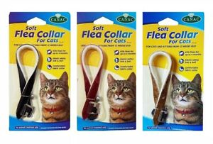 COMFORTABLE CAT & KITTEN FLEA COLLAR WITH ELASTIC SAFETY LINK AND BELL