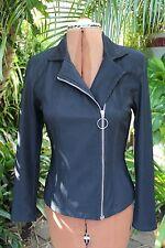 Vintage ladies jacket, Black, zip up,1980's,size 10-12.