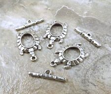 Toggle Clasps - 5098 Set of 3 Pewter Turtle