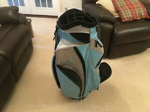 Green Lamb Golf Carry/Cart Bag with 7 zipped pockets and 10 way club divider