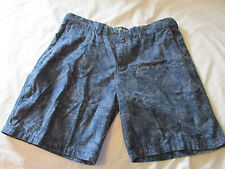 44 Foundry Mens Shorts Indigo Blue Floral Print Extendable waistband Big New