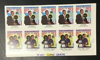 Skybox Back to Back Lakers Pistons Magic Johnson 10 Card Uncut Sheet Proof