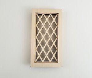 Dollhouse Miniature Window Tudor Style Diamond Pane 1:12 Scale Wood Alessio 2114