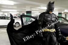 DARK KNIGHT RISES BATMAN costume CAPE black felt velvet
