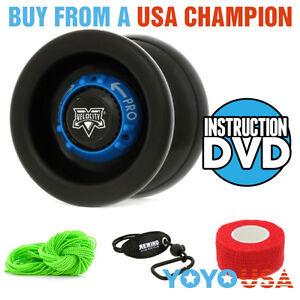 [Yo-Yo Set] YoYoFactory Velocity Starter Pack - Black -String, Holder, DVD, etc.