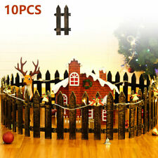 10pcs Plastic Garden Picket Fence Panels Garden Fencing Lawn Edging Plant Border