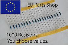 1000pcs Resistors kit pack. 1/4W, 1% 120 values, you choose