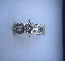 Split Shank semimount Engagement Ring for .75-1.25 ct round diamond