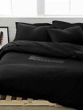 Calvin Klein Home Modern Cotton Body Jersey Logo Twin Duvet Cover Black