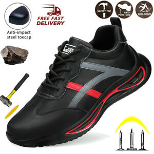 MENS SAFETY BOOTS STEEL TOE CAPS ANKLE TRAINERS HIKING SHOES WORK SNEAKER 5-11