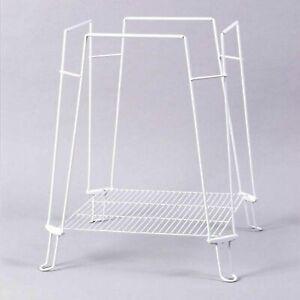 """Prevue Hendryx Clean Life Bird Cage Stand 24""""x14"""" White Bottom Storage NEW 872"""
