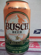 NEW BUSCH  BEER 2015 ORANGE HUNTERS CAMO CAN