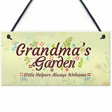 Grandma's Garden Novelty Plaque SummerHouse Sign Garden Shed Home Decor Gifts