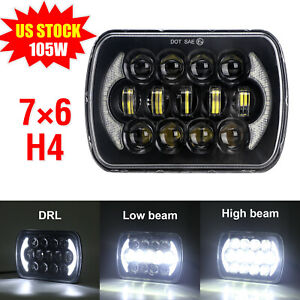 "for GMC Savana 3500 2500 1500 DOT 105W 5x7 7x6"" H4 LED Headlight Sealed Beam DRL"